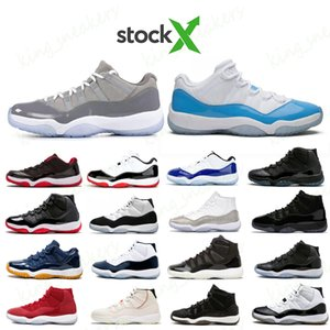 Stock x Jumpman Reteo Low Metallic Silver 11 Rose Gold women basketball shoes 11s Mens Trainers White Bred Concord UNC Gamma Blue Sneaker