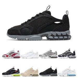 Nike Air Zoom Spiridon Cage 2 Stussy Классический тройной белый черный VARSITY JACKE мужская женская обувь Huarache Huaraches спортивные кроссовки кроссовки размер евро 36-45