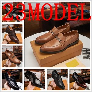 2020 Luxurys Dress Shoes Men Leather Casual Shoes Formal Wedding Shoes for Men Pointed Toe Flats Social Shoe Plus Size Mocassin Homme