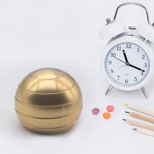 38мм 5 цветов Fingertip Gyroscope Fidget Spinner Круглый настольный декомпрессионный вращающийся сферический шар золотисто-серебристого цвета Top Новинки 1