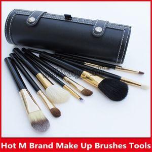 Berühmte M Marken Barrel Verpackung Make-up Pinsel Kit MAKEUP Marken 9pcs Pinsel mit Spiegel vs Meerjungfrau