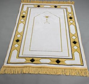 nave di goccia bianca 70 * 110 centimetri islamica musulmana lana preghiera stuoia della copertura Salat Musallah Prayer Rug Tapis Carpet Tapete Banheiro mat