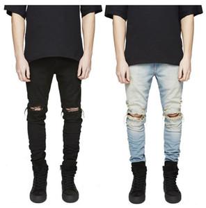 Designer Slim Fit Ripped Jeans Men Hi-Street Mens Distressed Denim Joggers Knee Holes Washed Destroyed Jeans Size; 27-42