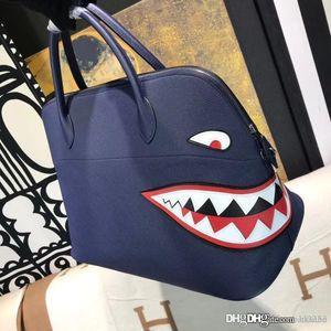2020 nouveau Grand top fourre-tout en cuir véritable classique Togo Bolide 100% fait main requin patchwork femmes sacs à main Crossbody épaule