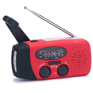 Portable Emergency Weather Radio Hand Crank Self Powered AM FM NOAA Solar Radios with 3 LED Flashlight 1000mAh Power Bank Phone Charger