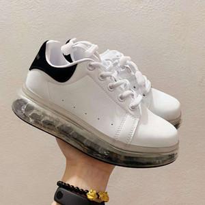 2020 Neueste Velvet Kinderschuhe chaussures enfants Plattform-beiläufige Schuh-Leder-Weiß MQ Turnschuhe keine Box