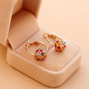 Earrings for Women Fashion 1pair Women Rhinestone Ear Stud Earrings