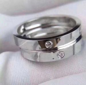 Avoir des timbres AU750 anneaux de diamant 18K lettre d'or pour hommes et dame womens partie des bijoux de fiançailles de mariage pour les couples