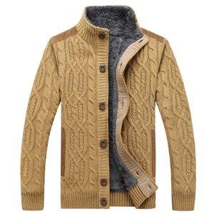 thick sweater Men's Sweaters Men's Clothings for winter autumn sweater men warm velvet coat cardigan jacket men clothing