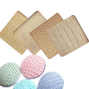 M1116 tejer patrón de encaje de lana Fondant moldes de silicona de punto almohadilla de impresión textura plantilla decoración de pasteles cocina herramientas para hornear