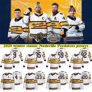 2020 Winter Classic Nashville Predators Trikots Filip Forsberg Roman Josi Matt Duchene Pekka Rinne Gewohnheit jeder Name eine beliebige Anzahl Hockey Jersey