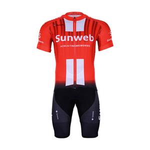 الشحن المجاني! الرجال لباس ضيق ارتداءها BYCYCLE جيرسي CYCLING WEAR 2019 SUNWEB PRO TEAM RED الحجم: XS-4XL