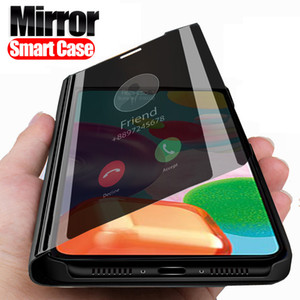 Smart Mirror Flip Case pour Samsung Galaxy A01 A21 A11 A51 A71 A50 A70 A30 A70E A10 Support téléphone livre Couverture fundas Coque