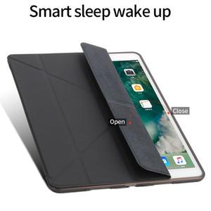 قضية IPad Silicone Sleft Back For iPad pro10. 5 2019 Case ipad23 10.2 mini4 5 Pu Leather Smart Cover fashion