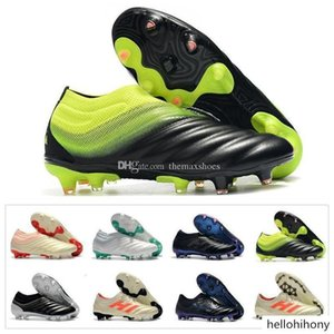 2019 New Mens Copa 19+ Fg Champagne 19+x 19.1 Slip-on Soccer Football Shoes Boots 19 Scarpe Calcio Cheap Cleats Size 39-45
