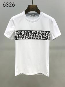 20SS Marka Erkek tişört Bermuda Avrupa hip-hop baskılı kısa kollu tişört yaz yeni moda yuvarlak boyun pamuk erkek gömleği