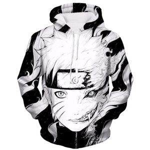 Sweats à capuche unisexe mode hommes femmes Naruto Akatsuki 3D imprimer pull sweat à capuche avec poche frontale