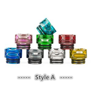 Snake Skin Resin Wild Cobra 810 Drip Tip Vape Mouthpiece for e-Cigarette 810 Thread Atomizer Fit TFV12 Prince Tank etc