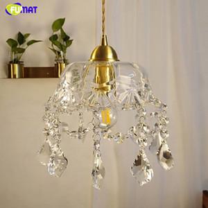 FUMAT Crystal K9 Lampade a sospensione Rame LED Lampade Forma ombrello Forma moderna Illuminazione per sala da pranzo Camera da letto Home Office Studio