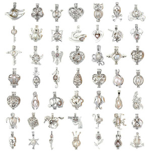 83 styles Pearl Cage DIY Jewelry Medalhão finds Cage Essential Oil Difusor Medalhão For Oyster Pearl charms Acessórios Femininos