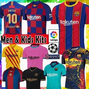 10 MESSI برشلونة Maillots دي قميص كرة القدم جيرسي لكرة القدم عدة 8 A. INIESTA GRIEZMANN F. DE JONG SUAREZ ديمبيلي COUTINHO MALC الرجال الاطفال