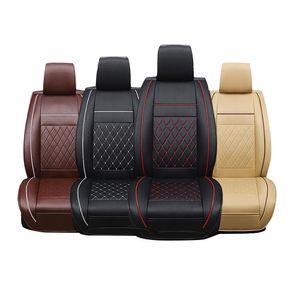 Car Seat Almofadas PU Car Couro assento Protector Automobile Cushion Pad Mat para Frente Auto Acessórios Interior Covers
