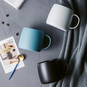 blue grey black Matte Mugs Ceramic Cater Cup Office ceramic mug big belly drinkware tableware 450CC