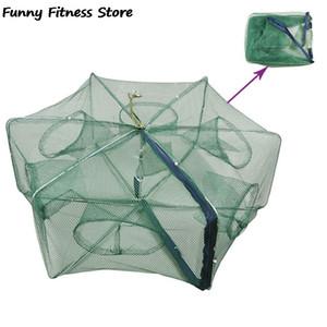 Paraguas automático Redes de pesca jaulas de red plegable fundición Peces camarones cangrejos Catcher Nets Fortalecer Fish Mesh Trampa