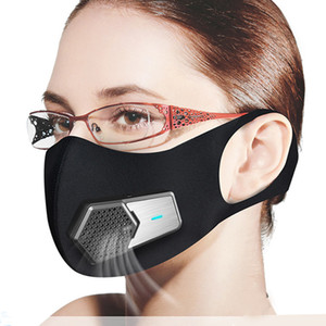 PM2. 5 Antipoussière masque intelligent ventilateur électrique masques Anti-Pollution Pollen allergie Respirant visage Housse de protection 4 couches protéger