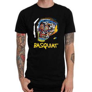T-shirt Léger à Manches Courtes Imprimé Coton Décontracté Jean Michel Basquiat