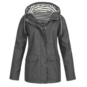 KLV Sonbahar Kış Kadın Ceketler Coat Sıcak Katı Yağmur Ceket Açık Artı Su geçirmez Kapşonlu Yağmurluk Windproof ücretsiz kargo 4.10