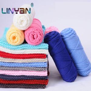 3 bolas amante de punto de hilo de algodón para crochet 4 mm grosor de la línea de tejer hilo de algodón Milk mano de los niños del ganchillo ZL3 hilo
