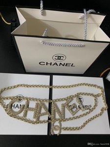 2020 venta caliente cinturón de oro de las nuevas señoras correa de cadena de negocios sólido de color hebilla de cinturón caja de regalo