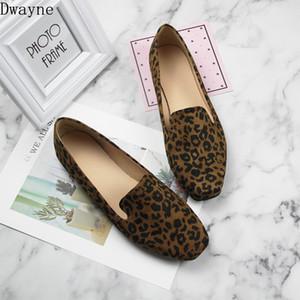 Nuevos zapatos planos de cabeza cuadrada de gran Leopard zapatos de las mujeres del tamaño 40-44 cómodo salvaje tendencia plana de pequeño tamaño 33-35