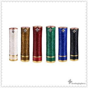 New E-cigarette Asura V1 Mech Mods Asura Mixed Resin Tube Mod 18650 Single Battery Vape Mod Brass Button for Retail