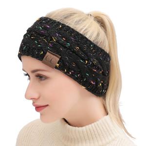 Dropshipping CC de punto Crochet diadema otoño invierno nuevas mujeres Deportes Headwrap Hairband Fascinator Hat Head Vestido Headpieces 21 colores