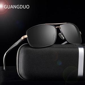 Las gafas de sol polarizadas de la marca GUANGDU de los hombres de la nueva moda protegen las gafas de sol con los accesorios Unisex que conducen gafas