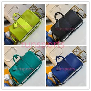 4 colori 2020 Keepall Luis borsa progettista di lusso duffle 45 50 uomini borsa bagaglio sportivo genuino pelle L borse fiore di viaggio modello newa264 #