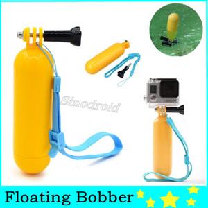 Amarelo Floaty Bobber com alça de Mergulho Floating flutuabilidade câmera de mão aperto / Handle Monte vara + parafuso para a ação da câmera H9 H9R