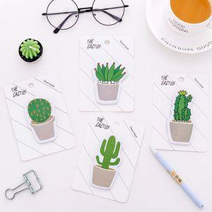 50pcs / lot mignon cactus memo pad collant note autocollant memo livre note papier n autocollants papeterie bureau école accessoires fournitures