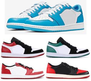 Nova SB 1 Baixo UNC Dedo Do Pé Preto Mystic Verde Criados Chicago Men Shoes 1 s Baixa Tênis de Esportes Melhor Qualidade Com Caixa