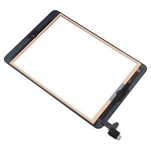 Schermo 20Pcs digitale di tocco per iPad Mini 1/2 1 ° / 2 ° Gen + IC + Home Button + adesivo sostituzione DHL