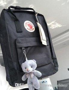 New Pattern Fjallraven Kanken Boys girls Canvas Backpacks Black Sports Backpacks Outdoor Waterproof Bag Outlet Online