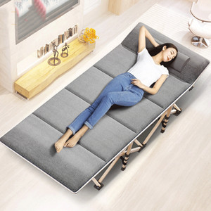 Portable Folding Bed Winter Summer Nap Couch Recliner Chair Fishing Beach Cushion Cover Mattress Bed Laying Deck Chair
