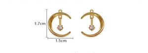 925 Silver Needle Light Luxury Delicate Fashion Moon Zircon Edición Coreana Chaozhou Temperamento Ear Nail 961