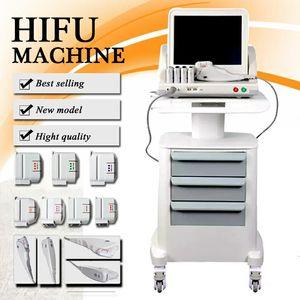 Os mais recentes Medical Grade HIFU High Intensity Focused Ultrasound HIFU Face Lift Máquina da remoção do enrugamento Com 5 Heads para rosto e corpo