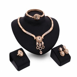 Moda mulher liga geometria jóias define galvanizar colar / orelha stud / anel / pulseira