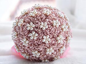 Perle di lusso perle fatte a mano fiori matrimonio bouquet moda stella strass rhinestone perline rotondo fiori bouquet miglior regalo per la sposa forniture di nozze