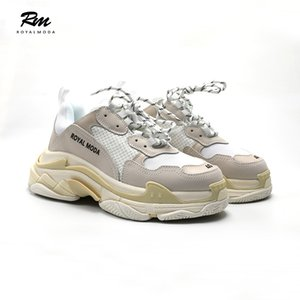 2019 new best quality Triple s leather Sneakers white man's sports women triples shoes EU44