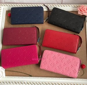 M60549 N63506 N62632 Full Leather Embossed Zippy Wallet Multiple-colors Wallets Oxidized Leather Clutches Evening Long Chain Wallets Compact